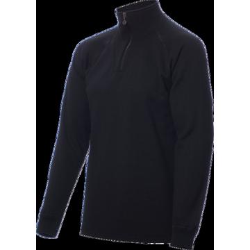 ZIP Polo-krční triko TERMO Original (vlna, těžké) / -40°C +5°C / 300 g/m2 Black L