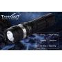 Svietidlo Tank007 TR01S U2 / Studená bíelá / 1000L (2h) / 200m / 5 režimov / IPX8 / 18650 Li-Ion / 169gr