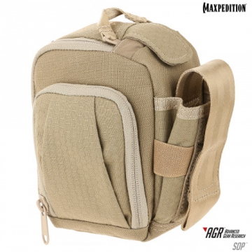 Puzdro Maxpedition Side Opening Pouch (SOP) AGR / 13x15 cm Tan