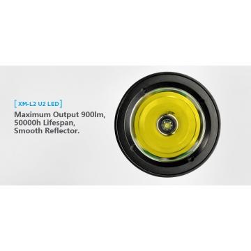 Potápačské svietidlo XTAR D06 XM-L2 U2 / Studená bíelá / 900lm (1.2h) / 306mm / IPX8-100m / Li-Ion 18650 / 210gr