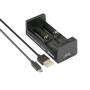 Nabíjačka USB XTAR MC2 pre 3.6 / 3.7 Li-ion / IMR / INR / ICR: 18650, 14500, 14650, 16340, 17335, 17500, 17670, 18350, 18490, 18500, 18700, 22650, 25500, 26650