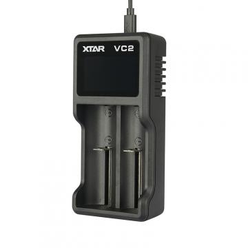 Nabíjačka USB XTAR VC2 pre 3.6 / 3.7 Li-ion / IMR / INR / ICR: 18650, 10440, 14500, 14650, 16340, 17335, 17500, 17670, 18350, 18490, 18500, 18700, 22650, 25500, 26650