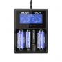 Nabíjačka USB XTAR VC4 pre: 3.6 / 3.7 Li-ion / IMR / INR / ICR: 18650, 10440, 14500, 14650, 16340, 17335, 17500, 17670, 18350, 18490, 18500, 18700, 22650, 25500, 26650, 32650 Ni-MH / Ni-CD AAAA, AAA, AA, A, SC, C, D