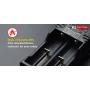 Nabíječka USB Klarus K2 pro Li-ion:26650 22650 18650 18490 18350 17670 17500 16340 14500 10440 16340 / Ni-MH/Ni-Cd:AA AAA AAAA C / LiFePO4
