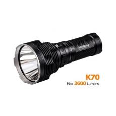 Svetidlo Acebeam K70 / Studená bíelá / 2600lm (2h) / 1300m / 7 režimů / IPx8 / 4* 18650