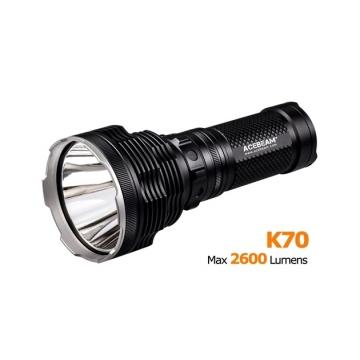 Svetidlo Acebeam K70 / Studená bíelá / 2600lm (2h) / 1300m / 7 režimů / IPx8 / 4* 18650 Li-Ion / 590gr