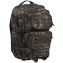 Batoh MilTec US Laser Cut Assault L / 36L / 51x29x28cm Multitarn Black