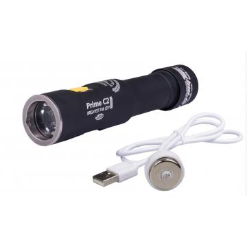 Svítilna Armytek Prime C2 Pro XHP35 Magnet USB / Teplá bílá / 1950lm (1h) / 185m / 11 režimů / IP68 / Včetně Li-Ion 18650 / 62gr