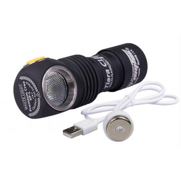 Čelovka Armytek Tiara C1 Pro  XP-L Magnet USB / Teplá biela / 980lm (30min) / 102m / 11 režimov / IP68 / Včetně Li-ion 18350 / 60gr