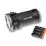 UV-Svetidlo Acebeam X80-UV / UV 365nm +Studená bíela / 10000lm (2min+2.5h) / 224m / 7 režimov / Včetně 4xLi-Ion 18650 / 330gr