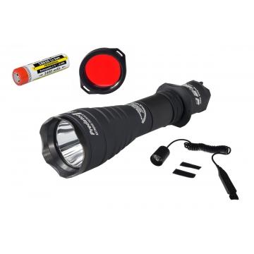Lovecká sada+: Svietidlo Armytek Predator Pro v3 XHP35 / Studená biela + baterie 18650 3400mAh + Červený filtr + Dálkový ovladač