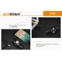 Čelovka Acebeam H30 R+G USB PowerBank / 6500K / 4000lm (1.5min+2.5h) / 208m / 9 režimů / IPx8 / Včetně Li-ion 21700 / 80gr