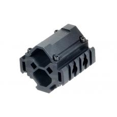 Montáž na hlaveň 19-28mm UTG MNT-BR005XL 3-rail / 5 Slotů