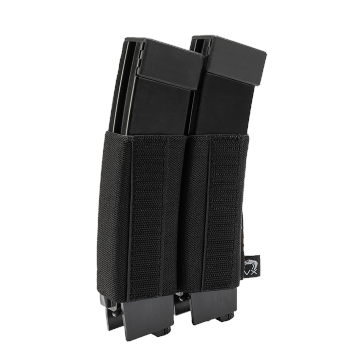 Elastická sumka na zásobníky SMG na suchý zip Viper Tactical VX Double SMG Mag Sleeve Black
