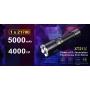 Svítidlo Klarus XT21X USB / Studená bíelá / 4000lm (1.2h) / 316m / 7 režimů / IPx8 / včetně 21700 Li-Ion / 158gr
