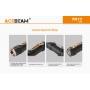 Acebeam Svítilna TK17 / CRI≥90 / 1400lm (45m) / 184m / 5 režimů / IPx8 / Včetně Li-Ion 18350 / 50gr