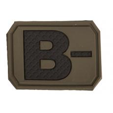 Nášivka na suchý zip MilTec B- OD Green / 3,8x2,8cm