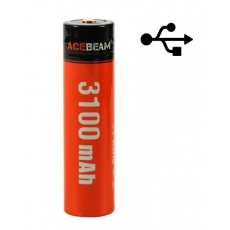 Acebeam Li-Ion 18650 USB PowerBank 3100mAh 20A Dobíjecí, chráněné baterie