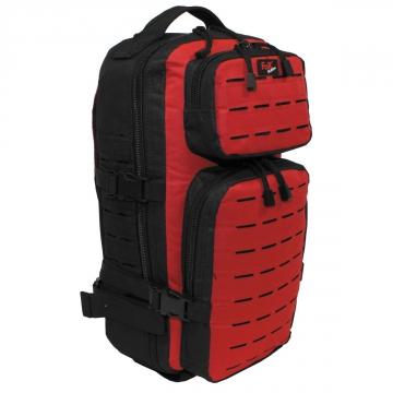 Batoh MFH Assault-Travel Laser / 30L / 23x44x18cm Black Red
