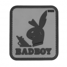 Nášivka na suchý zip 101 Inc. Badboy Grey /  77x69 mm