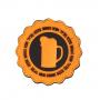 Nášivka na suchý zip 101 Inc. Real Men Drink Beer - Orange / 73mm